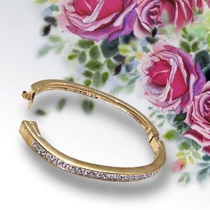 👣3/$25. Swarovski Gold Color Bracelet w/Crystals